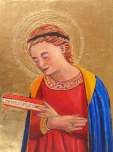 Virgin Mary Annunciate by WimdeGoede after Fra Angelico, 1433