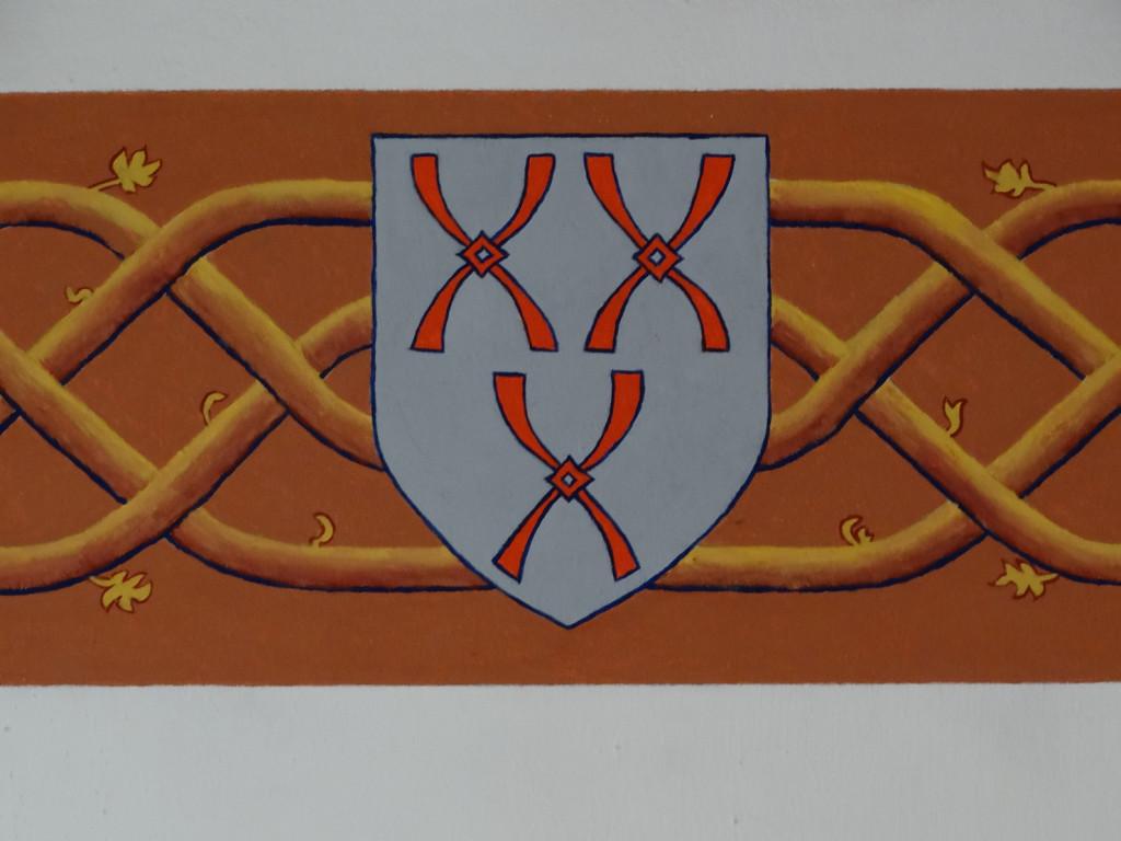 Het wapen van Montfoort en het rankenfries